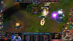 C9 vs TSM Game 1 crucial moment