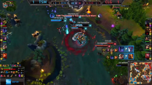 TSM vs CLG Game 3 crucial moment