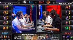 ALL vs SHC champion select