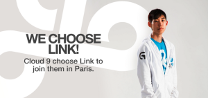 Cloud 9 choose Link to join them in Paris