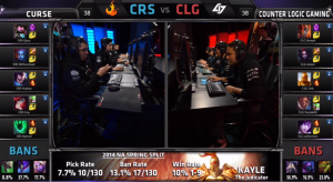 CRS vs CLG champion select