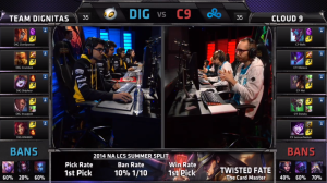DIG vs C9 Champion select