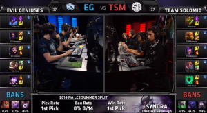 EG vs TSM Champion select