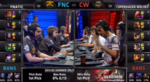 FNC vs CW Champion select