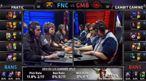 FNC vs GMB champion select