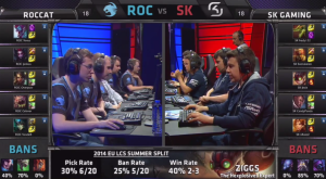 ROC vs SK Champion select