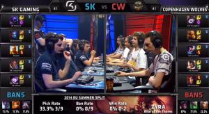 SK vs CW champion select